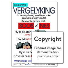 Beeldspraak: Vergelyking – Depicta Example Of Simile, Middle School English, Mentor Texts, English Language Arts, Figurative Language, Word Families, Common Core Standards, Literacy Centers