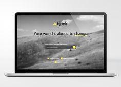 Coming Soon Splash Page by Bjonk Design, via Behance