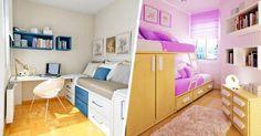 Ahorrar espacio en una habitación pequeña ya no tiene porque ser un problema, si distribuyes de una manera adecuada tus muebles en el espacio disponible, tendrás más comodidad, será más reconfortante y no querrás salir. 1. Ahorra espacio con detalles minimalistas  2. Espacio pequeño diseñado para