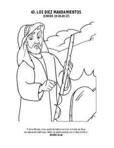 Los 10 mandamientos Religion, Kids Bible Verses, 10 Commandments Kids, Stories For Children, Toddler Sunday School, Christian Kids, Religious Education, Faith