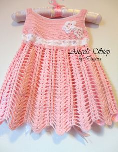 Crochet dress Pura Vida Crochet Baby Dress by angelsstepbydaiana, $60.00