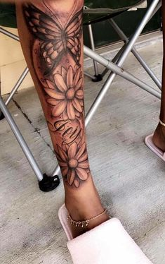 ✨‼️ – foot tattoos for women Dope Tattoos, Girl Leg Tattoos, Black Girls With Tattoos, Sleeve Tattoos For Women, Pretty Tattoos, Tattoo Girls, Body Art Tattoos, Leg Sleeve Tattoos, Awesome Tattoos
