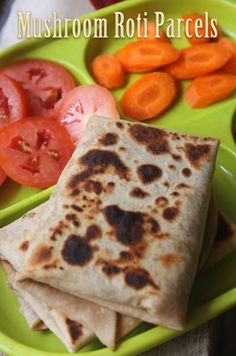 YUMMY TUMMY: Mushroom Roti Parcels Recipe - Kids Lunch Box Ideas