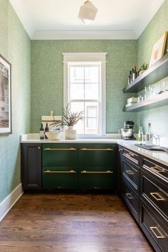 How to Turn a Spare Closet into a Multifunctional Space, According to Designers | Apartment Therapy Storage Cabinets, Kitchen Cabinets, Entry Nook, Whiskey Lounge, Hanging Drapes, Hallway Closet, Barn Style Doors, Small Hallways, Glam Room
