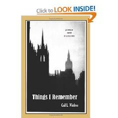 Things I Remember, a book of poems and short stories by Gail L. Winfree, available on Amazon