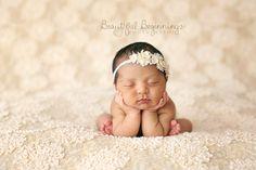 Newborn Flower Headband. Baby Primrose Flower by verityisabelle