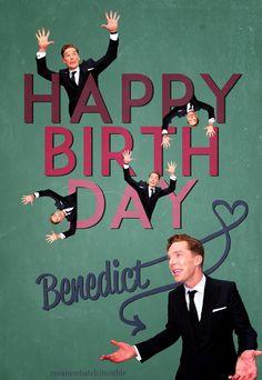 Benedict Cumberbatch Happy