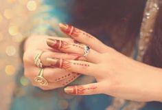 Muslim girl mehndi hands picture for Facebook profile
