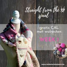 Straight from the Heart sjaal – GRATIS CAL met wolresten – week 3 – Het Betere Bolwerk Straight From The Heart, Poncho Sweater, Crochet Shawl, Sweaters, Fashion, Moda, La Mode, Sweater