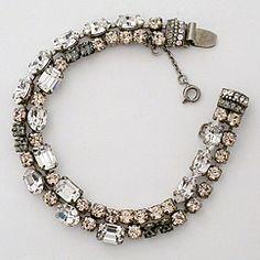 double strand vintage crystal bracelet
