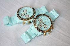 Robin's egg blue watches. I'm so loving this!