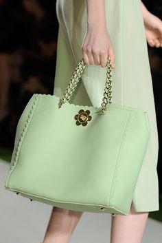 here (via Pink Lemonade Design) GORGEOUS aqua bag, and lovely matching sheaf skirt