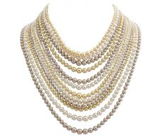 Tom Binns - DEGRADEE PEARL NECKLACE WITH CRYSTAL CLASP