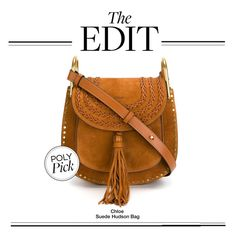 """The Edit: Chloe Suede Hudson Bag"" by polyvore-editorial ❤ liked on Polyvore featuring Chloé and theedit"
