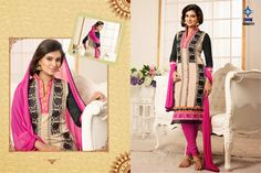 Sayali Bhagat Chanderi Cotton Suit (semi Stitch) SOLD