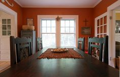 Haha, orange CAN look good in a dining room!  ...just not mine...