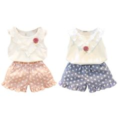 Summer Baby Girls Christmas Outfit Clothing Sets Children Necklace T-shirt Pants Kids 2 pcs Clothes Set #ChristmasOutfit
