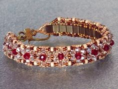 Free+Bead+Patterns | Bead Patterns Boutique - Antique Gold Beadwoven Tila Bracelet must buy pattern