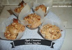 "New foodie Post Up: ""Apple Cinnamon Walnut Muffins"" RECIPE: http://tastiedine.com/2016/07/20/apple-cinnamon-walnut-muffins/ Comment & Subscribe!!"