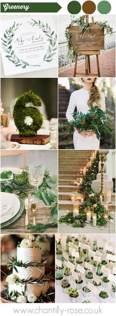 Natural greens wedding inspiration.