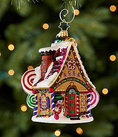 Christopher Radko Home Sweet Home Gingerbread House Ornament #Dillards