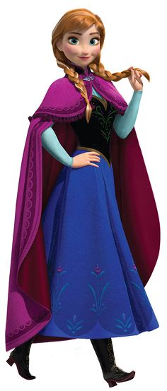 Princess Anna of Arendelle (pronounced Aw-Na) is the protagonist of Disney's 2013 animated feature film, Frozen. She is the youngest daughter of Arendelle's previous rulers, Agnarr and Iduna, and the younger sister of the Snow Queen, Elsa. Fearless and devoted, Anna embarks on a perilous journey to both save her kingdom from an eternal winter, and mend the broken bond between herself and her sister.