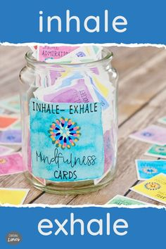 Inhale Positivity and Exhale all the stress and anxiety! Inhale Exhale printable cards come with inspiring messages to encourage mindfulness, reflection and a focus on positive energy. Life can get hectic and everyone needs time for self care! These calming cards are a good reminder to be more mindful, live with intention and enjoy the journey. Sharing these meditative positivity cards is a fun way to spread inspiration to family, friends, fitness Inspiring Messages, Inspirational Message, Motivational Cards, Meaningful Conversations, Inhale Exhale, 21st Gifts, Dots Design, Choose Joy, Limes