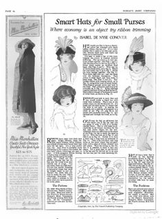 Woman's Home Companion - October 1921. ✿•Some of the patterns are for regular size not dolls size.  But  these same patterns will work just as well for dolls -  just shrink or  enlarge to fit - they work great ♥. ..•♥°.... Nims.... °♥•