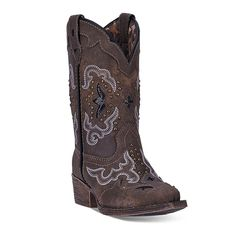 Laredo Rulay Kids' Cowboy Boots, Girl's, Size: 3, Brown