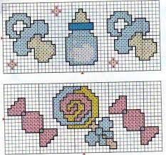 Resultado de imagem para desenhos pequenos em ponto cruz para bebe