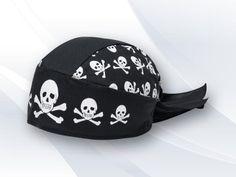 Bandana Personalizada Roqueiro VC1502, preta, tecido popeline, fecho em laço e rabo tartaruga, disponível também em microfibra.