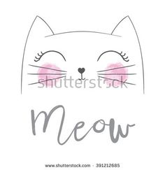 Cat vector,T-shirt Print,i love you,Valentine's Day,animal drawing,Children illustration for School books and more. Separate Objects,Romantic hand drawing poster/cartoon character