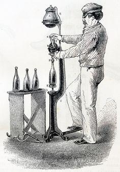 """""""Pompe a sirop pour la preparation des limonades gazeuses""""."""
