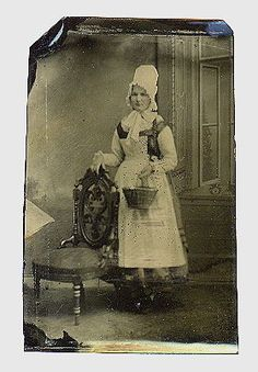 tintype-RARE-OCCUPATIONAL-OF-SERVANT-MAID-1870