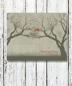 Personalized Wedding Gift Family Tree Art Love by WordsWorkPrints, $20.00