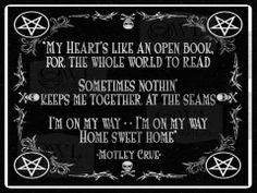 Motley Crue home sweet home