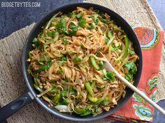 Spicy Pork Pad Thai - BudgetBytes.com