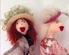 PATTERN - Leonora & Lily - stylish character cloth doll PATTERN - Jill Maas