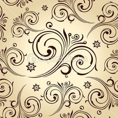 Seamless vector flowers wallpaper. Vintage background | Imagen vectorial © Extezy #12187574