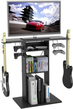 """Gaming And TV Stand Centipede For TVs Up To 32"""" Room Organizer Atlantic Black #Atlantic"""