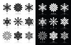 Christmas or winter Snowflakes vector icons  photo
