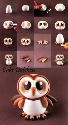 Fondant Owl Tutorial