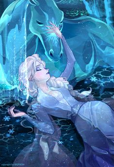 """Nokk and Gale Anime Disney Princess, Frozen Disney, Disney Princess Drawings, Disney Drawings, Disney Princesses, Frozen Anime, Elsa Frozen, Disney E Dreamworks, Disney Movies"