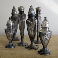 ∷ Variations on a Theme ∷ Collection of Silver Salt & Pepper Collection