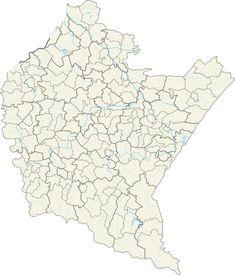 Mapa lokalizacyjna województwa podkarpackiego