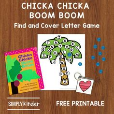 Our Chicka Chicka Boom Boom activities include a free cover and find game to practice letter identification and letter sounds. Letter Games, Learning The Alphabet, Alphabet Activities, Teaching Calendar, Chicka Chicka Boom Boom, Alphabet Pictures, Letter Identification, Free Cover, Letter Recognition