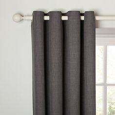 Buy John Lewis Barathea Lined Eyelet Curtains Voile Curtains, Grey Curtains, Window Drapes, Colorful Curtains, Panel Curtains, Gray Painted Walls, Grey Walls, John Lewis Curtains, Grey Roman Blinds
