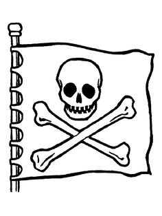 the skull of the pirates of the caribbean zentangles
