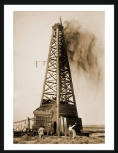 Gusher from an Oklahoma oil well in 1922.
