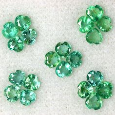 2.70 Cts Natural Top Green Emerald Gemstone Heart Cut Lot Untreated Zambia 3.5mm